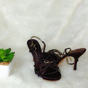 Nina Rhinestone Strappy Heels
